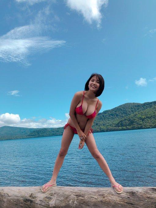 グラビアアイドル寺本莉緒のTwitter自撮りエロ画像5
