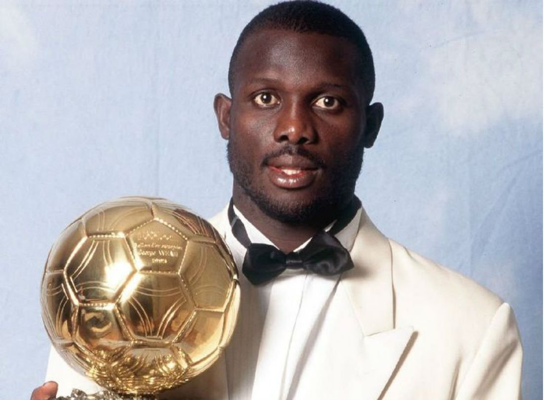 🕰️Let's go back in time to 1995 when our #AfricanLegend, @GeorgeWeahOff was crowned #TheBest! 🏆 He made Africa Proud 🎊🎉❤️