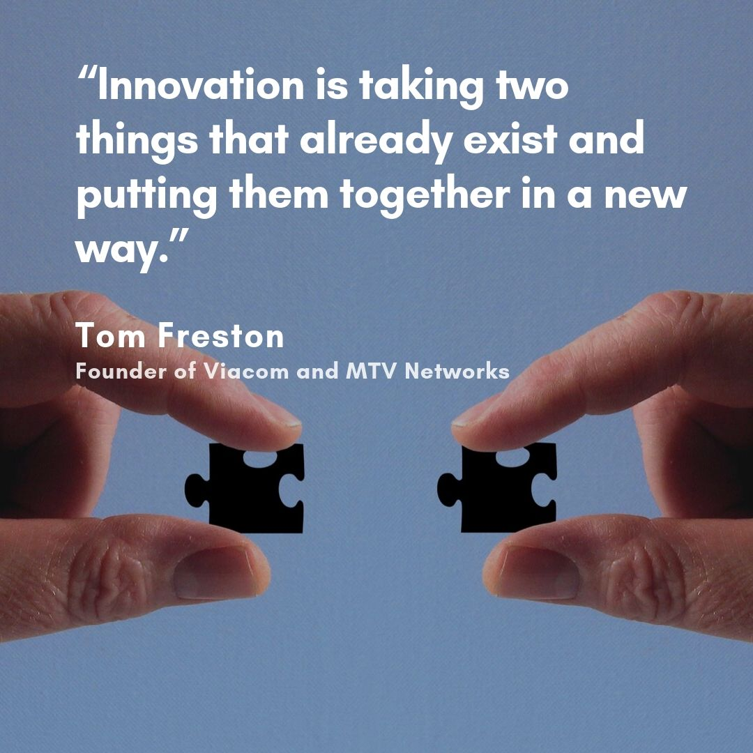 """Monday's spirit words came from Tom Freston """"Innovation is taking two things that already exist and putting them together in a new way.""""  So, Think different sometimes is good idea, right?  Visit http://www.equine.co.id  #love #poetry #quote #quoteoftheday #quotestoliveby"""