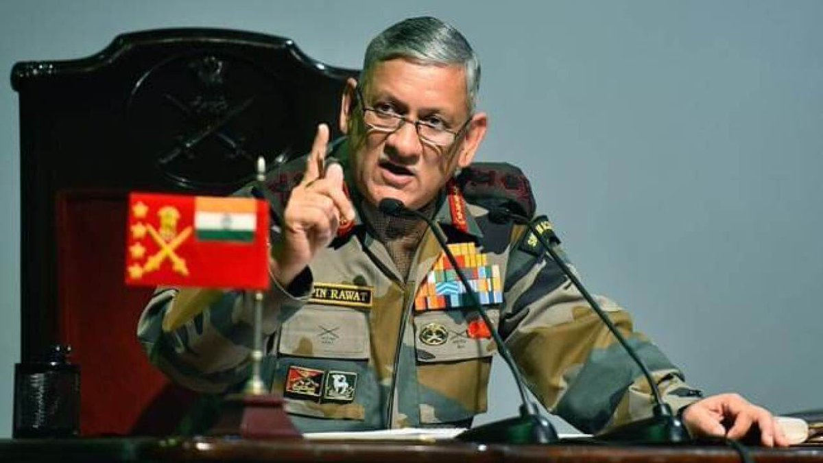 "Soldiering is DEAD in Pakistan ! ""JeM terror camp in Pak's Balakot reactivated,more than 500 terrorists are waiting to enter India"" General #BipinRawat @peaceforchange General Gafoor , Your Army CAN'T fight a direct war with India so you HIRED these Jihadi terrorists. Shameful 👎"