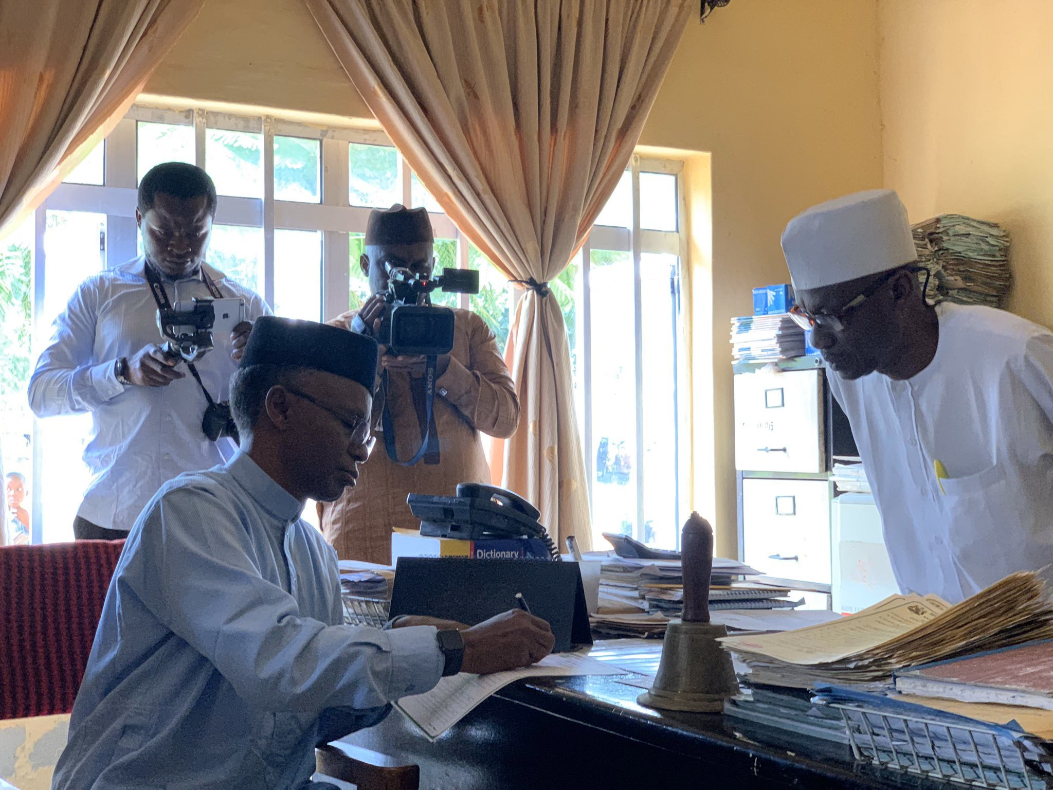Gov-El-rufai Fulfill One Of His Campaign Promise As He Enrols Son In Public Primary School