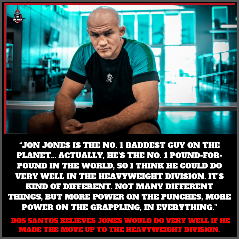.@junior_cigano believes .@JonnyBones would do very well if he made the move up to the heavyweight division.  Do you agree with him ? Share your thoughts.  .@ufc #mma #ufc #juniordossantos #jonjones #lightheavyweight #heavyweight #mmaupdates #striking  #wrestling #mmaindiashow