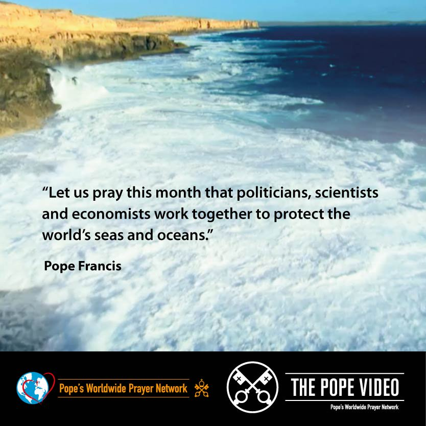 Let's do something to protect our seas and oceans as @Pontifex asks us #Creation #ThePopeVideo #SeasonOfCreation