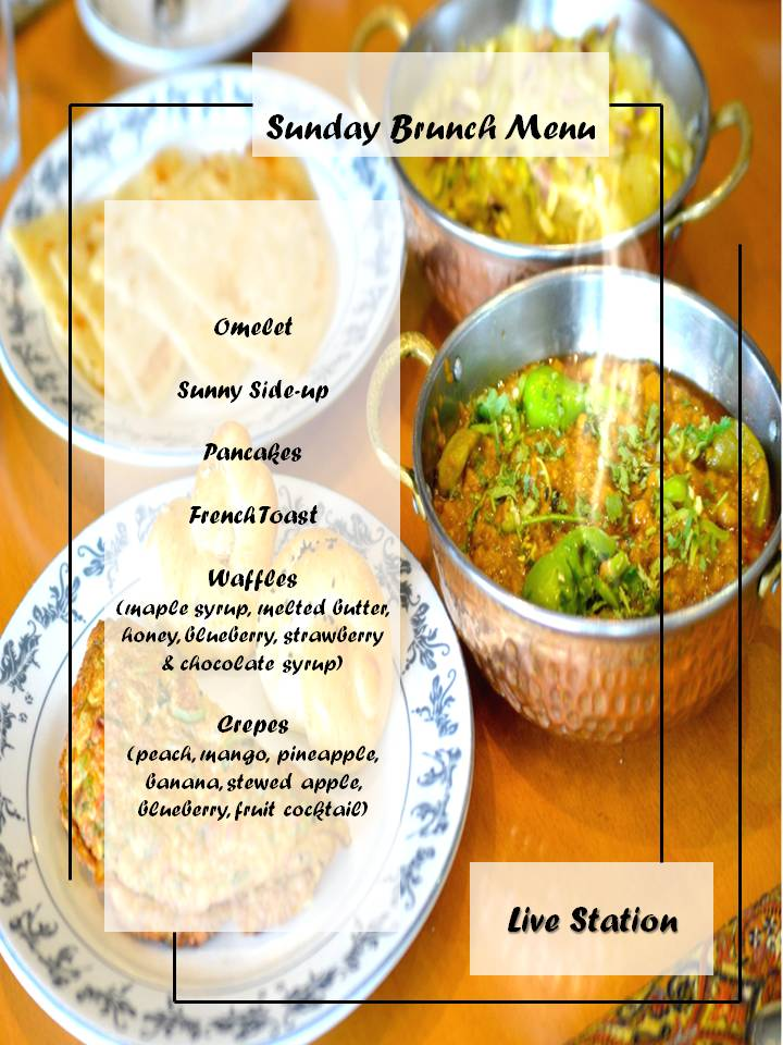 (1/2) Check out our totally unique Sunday Brunch Menu‼️ From Desi food to Continental cuisines, from creamy delights to fruity drinks. It is everything you'd want from your mornings!😋😍  Served every Sunday from 11.00 am to 3.00 pm in Just Rs. 949 + tax!  ☎️ 042 111 111 124
