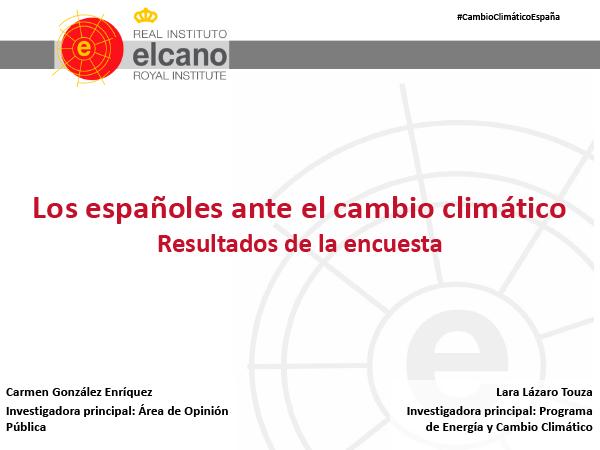 Los españoles ante el cambio climático