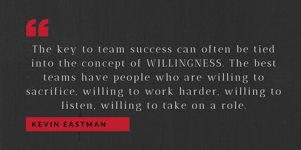 Always measure your willingness and the team's willingness. It's crucial for success.