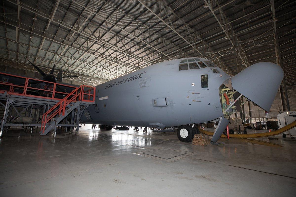 العراق يقوم بتأهيل طائرات C-130 بأمكانيات محليه  EFJNwOIW4AAu2GW