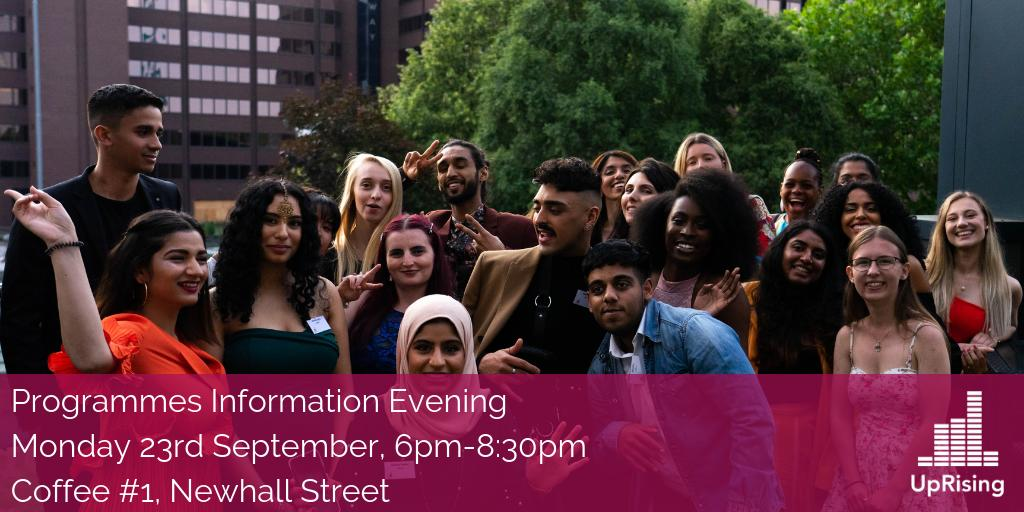 WE HAVE SOLD OUT! We can't wait to meet our future UpRisers tonight at our Programmes Information Evening 🥳🙌