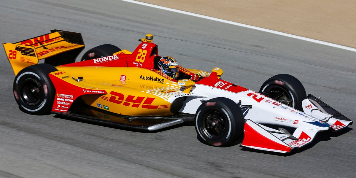 👀 @RyanHunterReay ran a special #50YearsOfDHL livery ❤️💛 for the grand finale of the @IndyCar season. #DHLMotorsports #IndyCar