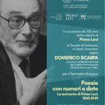 Image for the Tweet beginning: #UniPa ricorda Primo Levi a