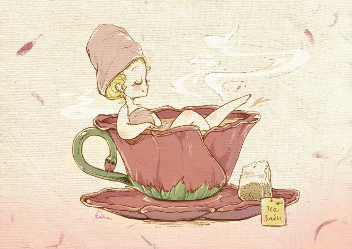 Чашка чая смешная картинка, лет юбилей