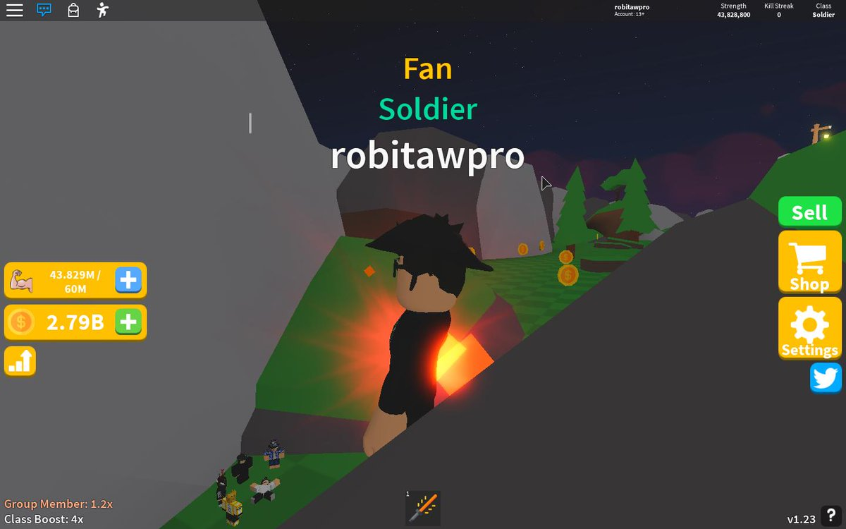 Henry On Twitter Update 1 Of Saber Simulator Is Out Now Roblox