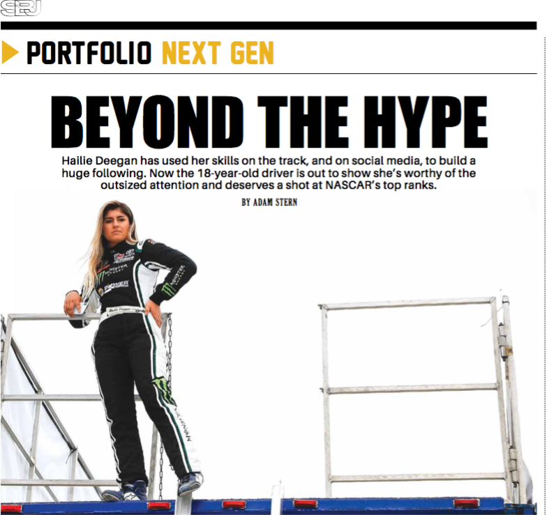 '@HailieDeegan is drawing major attention in @NASCAR and has the industry wondering whether she can become the sport's next superstar.  ➖ Deegan is ranked No. 3 out of all drivers in social media value this year, and she's No. 1 in total engagement.  📰: https://t.co/MXxmQGbV4t https://t.co/Lgto9BlAm9