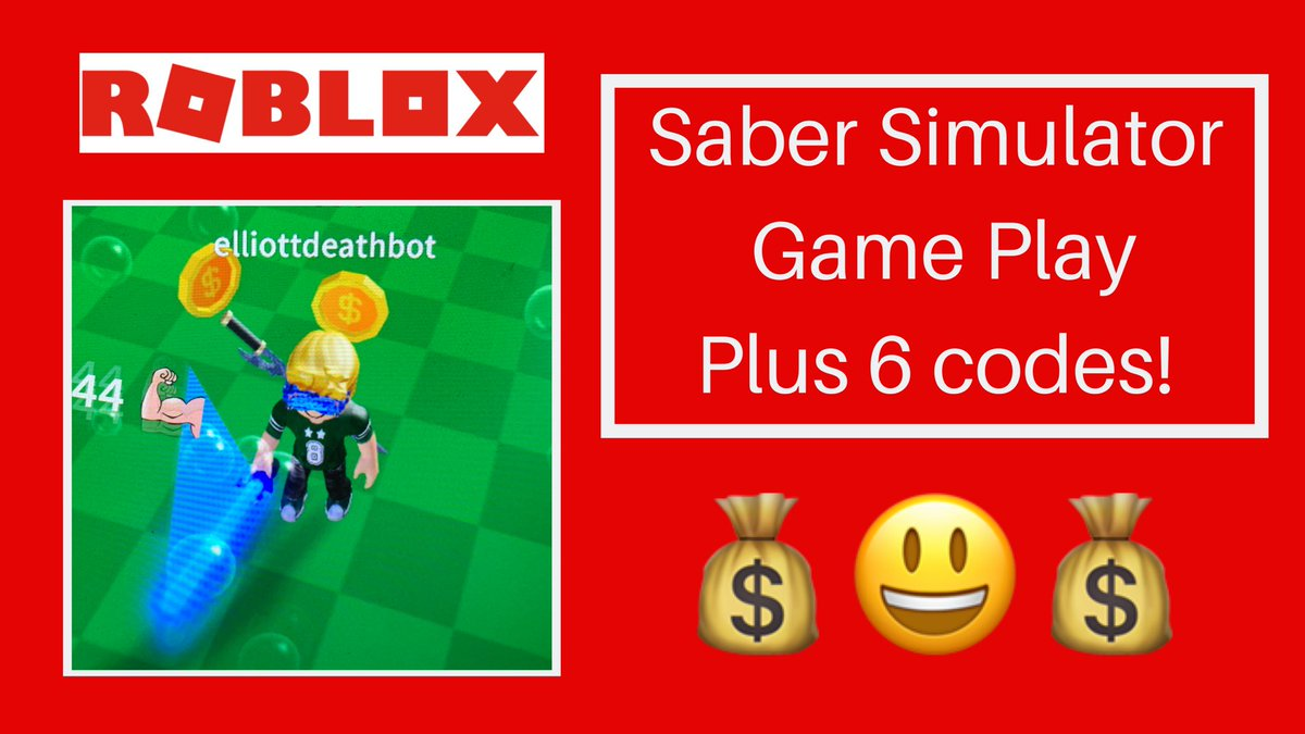 Deathbotbrothers On Twitter Roblox Codes And Game Play For Saber