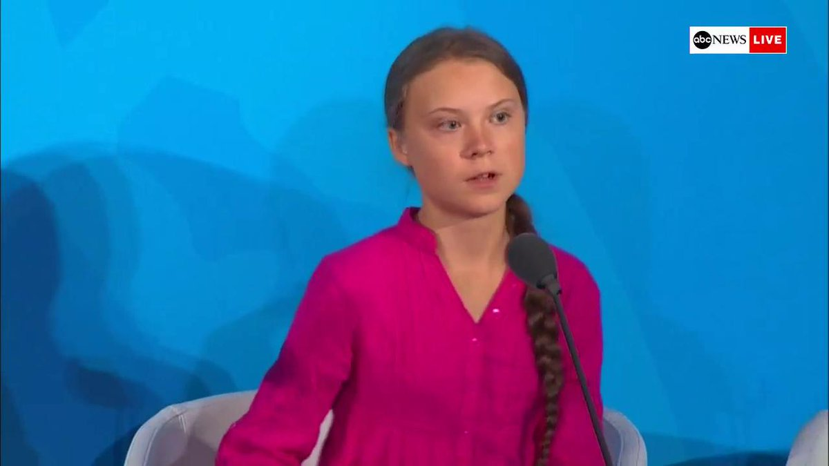 Swedish climate activist Greta Thunberg at #UNGA: This is all wrong...You all come to us young people for hope. How dare you! You have stolen my dreams and my childhood with your empty words—and yet, Im one of the lucky ones. abcn.ws/2mAhgB1