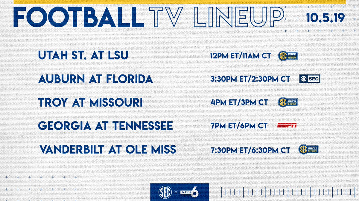 📺 times and networks set for games on October 5: bit.ly/2mANLz1