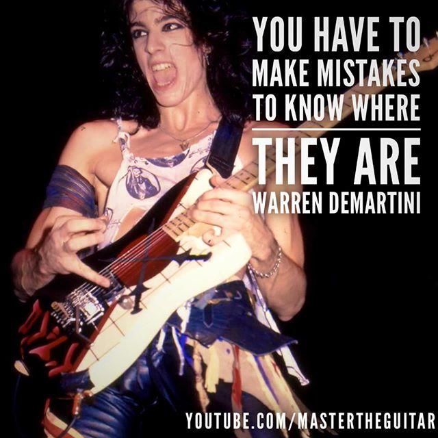 #quoteoftheweek #mastertheguitar #guitar #guitarist #play #guitarplayer #guitarlife #guitarlove #guitarstudy #warrendemartini #mistakes