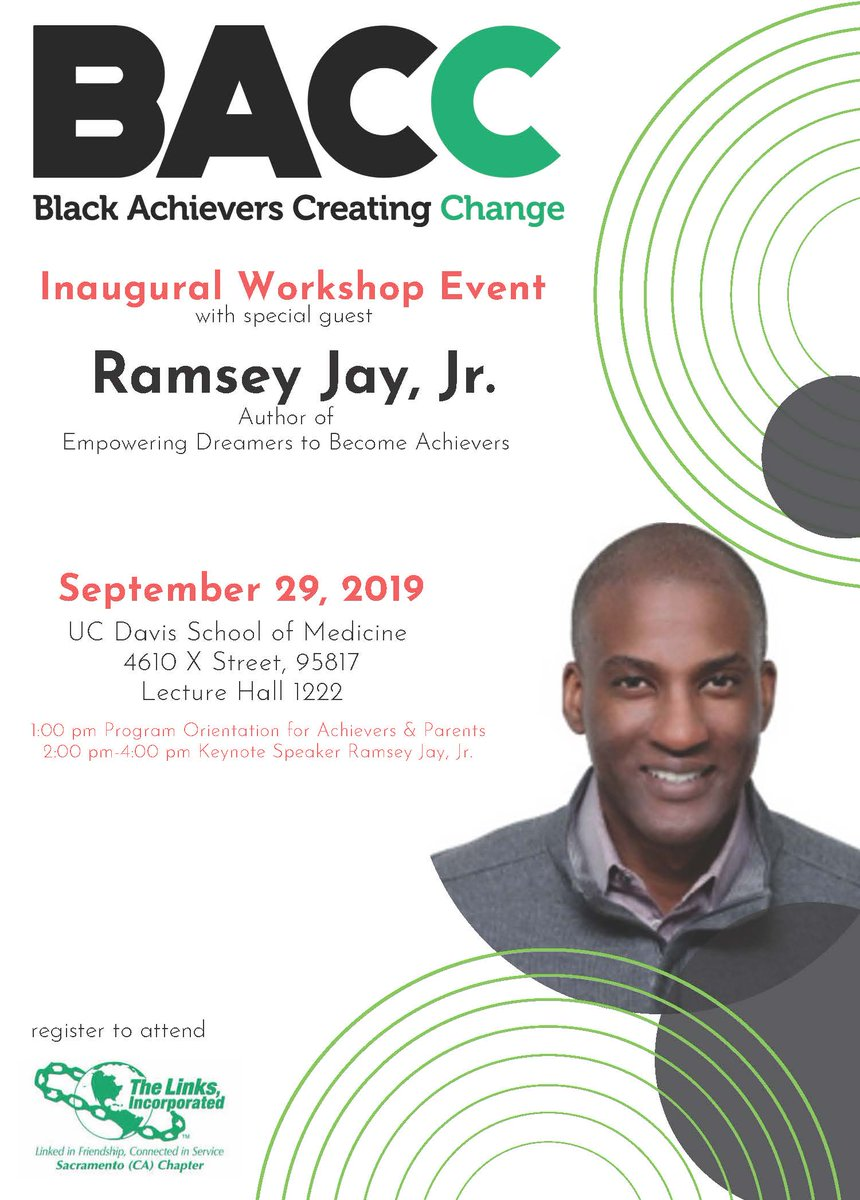 Youth Opportunity Alert! Black Achievers Creating Change is looking for high school juniors and seniors.   Learn more and register for their kick-off on 9/29 at https://t.co/chRVtXLz1N - everyone is welcome to the kick-off with guest speaker Ramsey Jay Jr.! https://t.co/OC9iAnnnmk