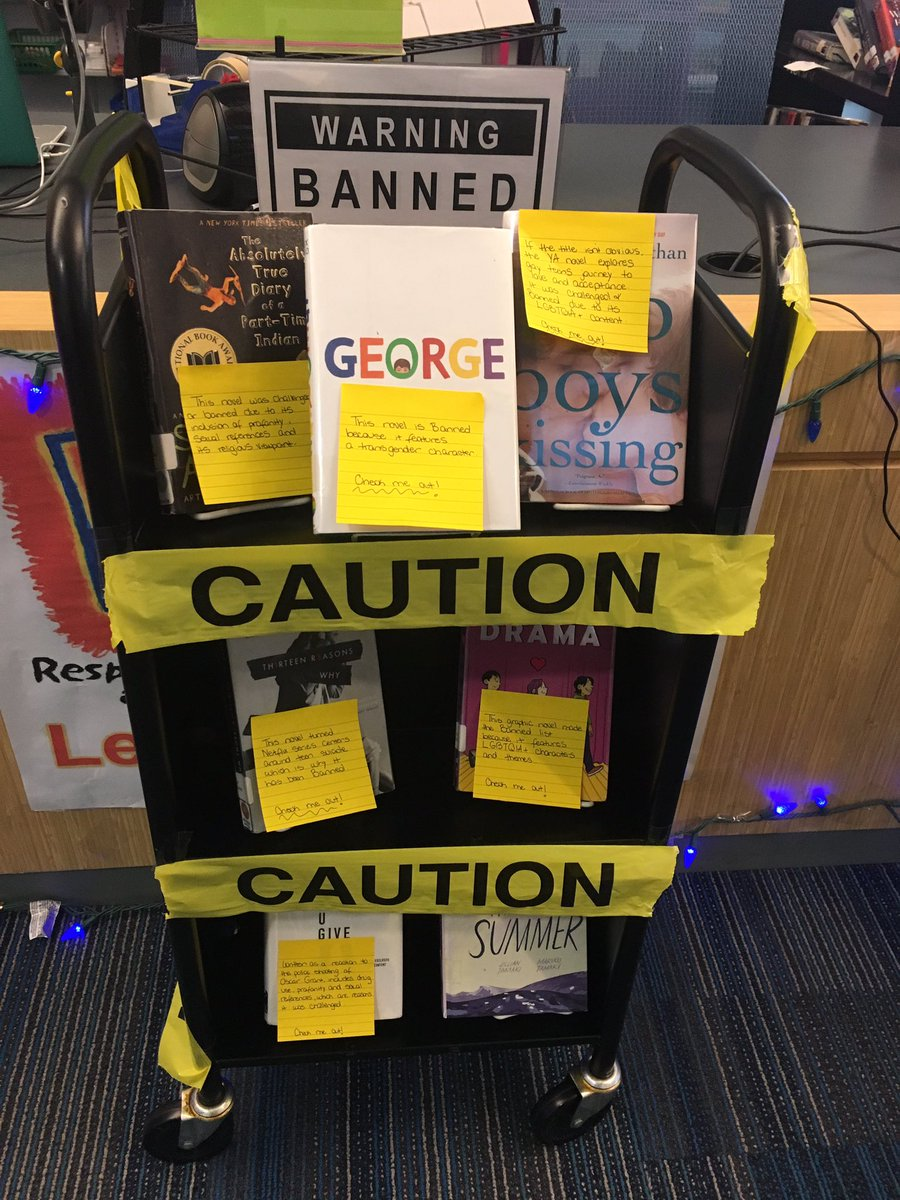 """Something will be offensive to someone in every book, so you've got to fight it."" - Judy Blume  Check out <a target='_blank' href='http://search.twitter.com/search?q=BannedBooks'><a target='_blank' href='https://twitter.com/hashtag/BannedBooks?src=hash'>#BannedBooks</a></a> from our display or ask us for other banned books recommendations! <a target='_blank' href='http://twitter.com/APSLibrarians'>@APSLibrarians</a> <a target='_blank' href='http://twitter.com/LoftBridget'>@LoftBridget</a> <a target='_blank' href='http://twitter.com/YorktownHS'>@YorktownHS</a> <a target='_blank' href='http://twitter.com/YorktownAPs'>@YorktownAPs</a> <a target='_blank' href='https://t.co/CCP8luMKTG'>https://t.co/CCP8luMKTG</a>"