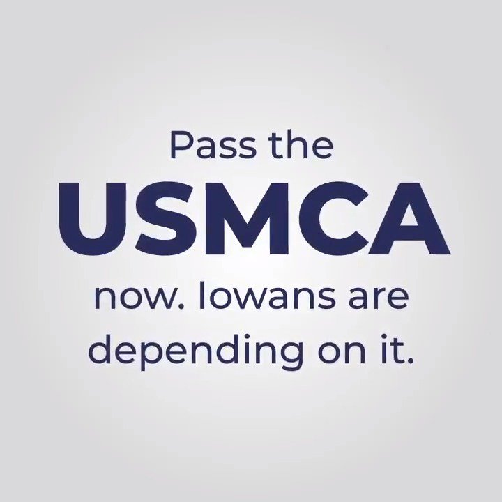 #Iowa pork producers like Mike share my support for the #USMCA. It's a win for Iowa. And all America. WATCH: