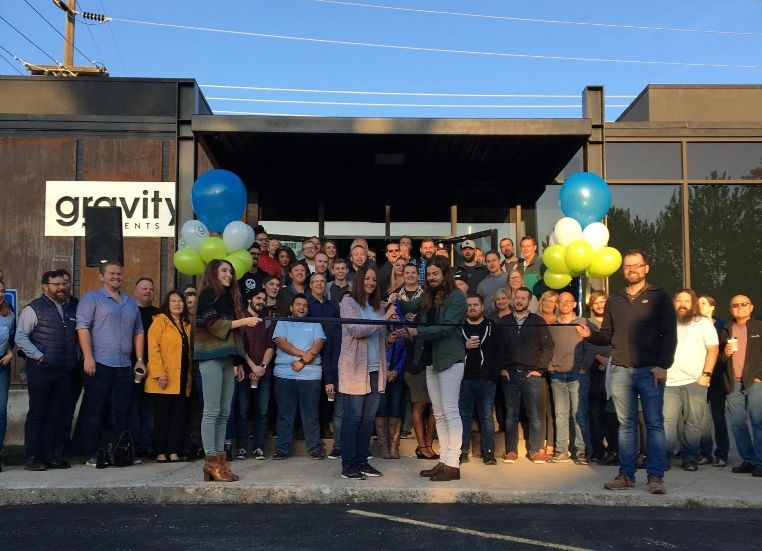 This morning we cut the ribbon on the new @GravityPymts Boise office AND announced that all of our employees here will start earning our $70k min salary.  I'm so grateful to work with this amazing team and to be able to compensate them for the value they bring to our community.