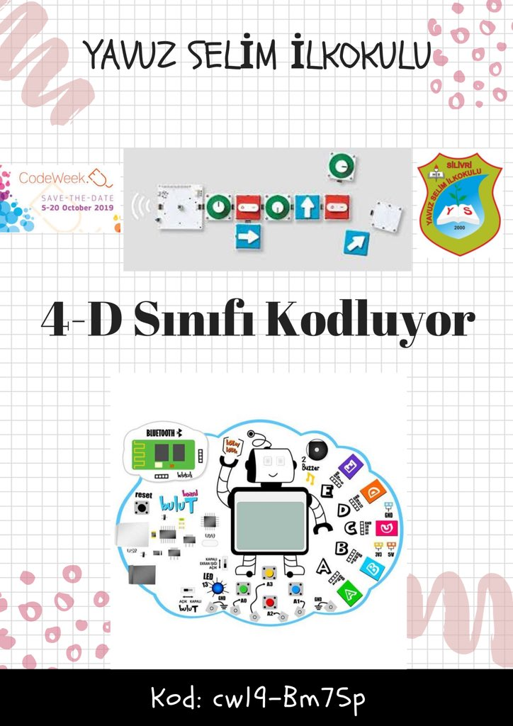 Codeweek haftasında biz de varız:))   #silivriyavuzselimilkokulu #silivrimeb #ziyaselçuk   #istanbulmem  #silivrihaber  #ebaistanbul