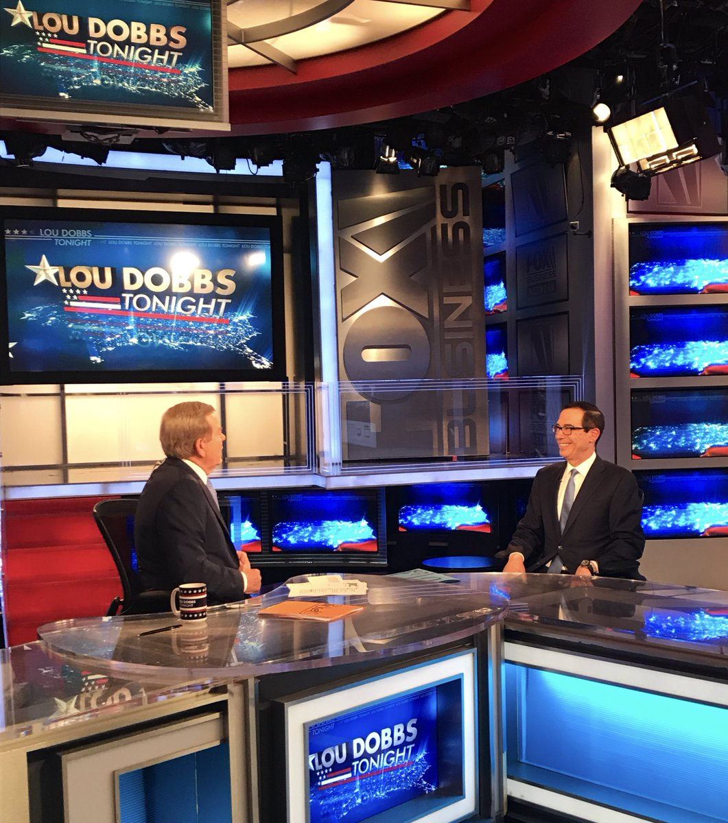 Joined @loudobbs tonight in New York to discuss trade, Iran, #UNGA2019, and the strong US economy.