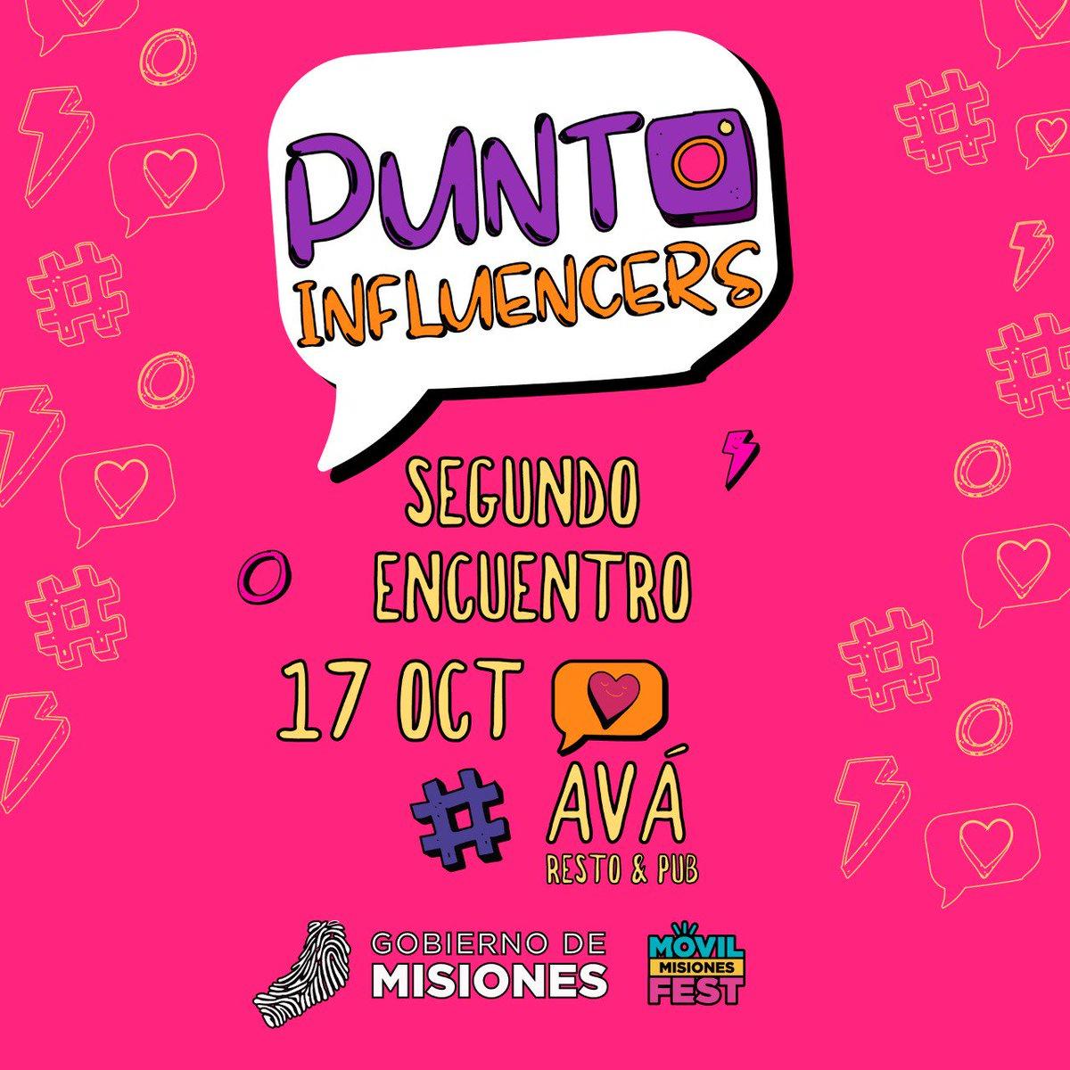 Te contamos que ya estamos preparando  el segundo encuentro #PuntoInfluencer. ¡Si querés saber cómo convertirte en un instagramers esta es tu oportunidad!  ¡Te esperamos el próximo 17  de octubre. #influencer #instagramers #posadasmisionesargentina #PuntoInfluencerpic.twitter.com/fPMJz6j0Ti