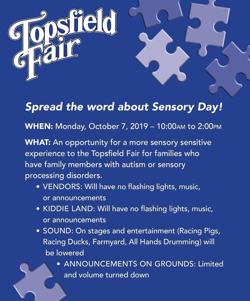 Topsfield Fair 2020.Topsfield Fair On Twitter Join Us For Sensory Day Monday