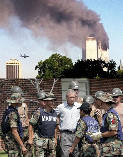 Top photo: Saudi Arabia not sending its best in 2001. Bottom photo: Mexican military saving American lives post-Katrina 2005. thestar.com/news/world/201…