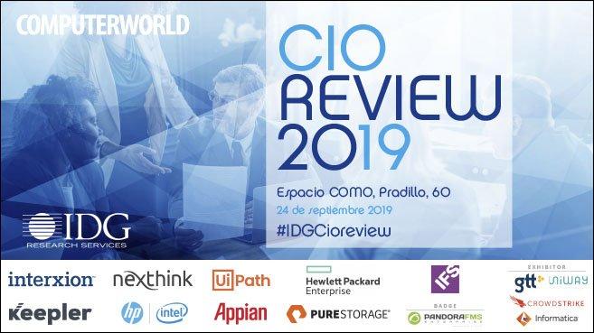 En 1 hora comenzará IDG CIO REVIEW  2019 un #evento de @IDGResearch_ES donde CIOs de diferentes corporaciones reflexionarán y nos explicarán cómo escalan su #innovación y cómo gestionan el cambio. Infórmate de todo lo que suceda a través del hashtag #IDGCioreview