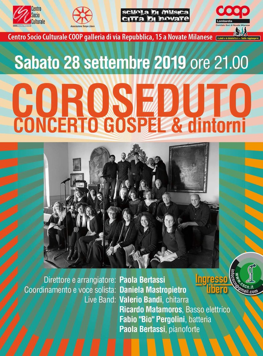 Scuola Di Musica Novate Milanese.Coroseduto Choir Corosedutochoir Twitter