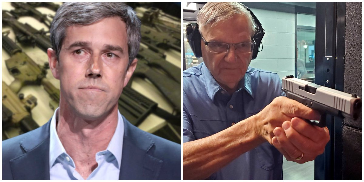 Yesterday gave speech Honoring American Veterans in Lima OH. Visited Midwest Shooting Center and took aim on the shooting range. Beto ORourke wants to take away guns from citizens. I want more citizens armed. 24 years as Sheriff I defended 2nd Amendment will never surrender.