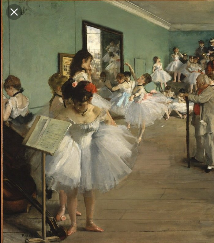 Art fills a void inside us yearning for beauty Degas was a French master skilled at painting the human body in motion Many of his works are devoted to ballerinas Their grace in motion inspired him Find something that inspires you Inspire others Share the spark #Hanian