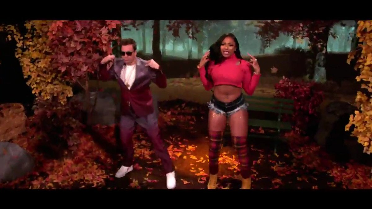 """Jimmy Fallon and Megan Thee Stallion Introduce Us to """"Hot Girl Fall"""" — Cozy Sweaters Included"""