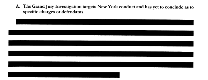 NEW: Manhattan D.A. Vance files memo opposing Trumps bid to quash his subpoenas, and the section of an accompanying declaration describing the grand jury investigation is entirely redacted. cc: @CourthouseNews Memo: documentcloud.org/documents/6427…