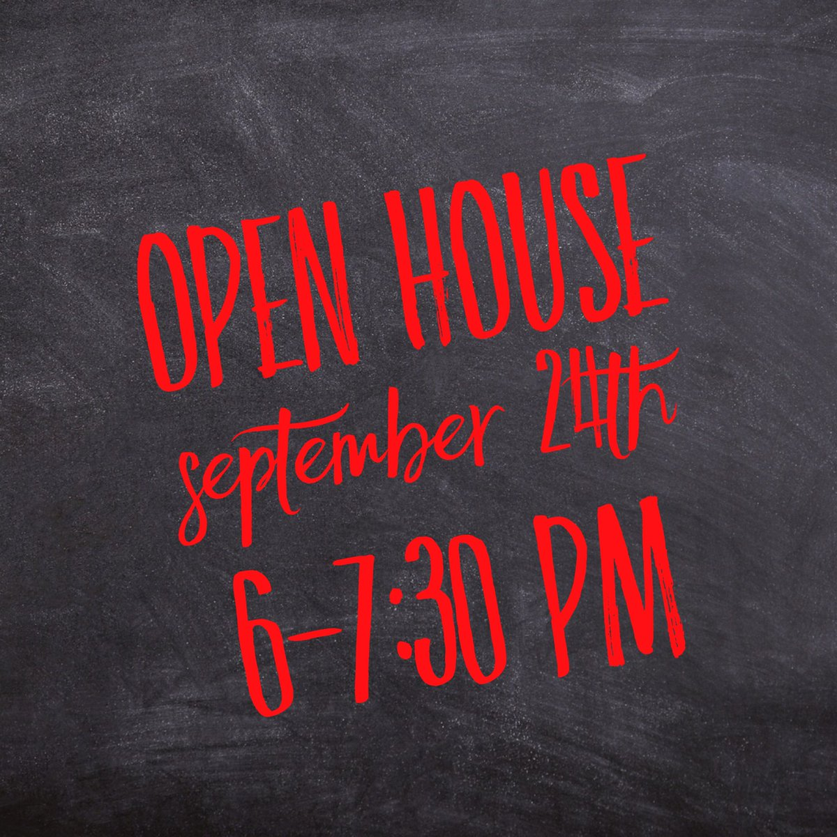 Join us for Open House tomorrow night!