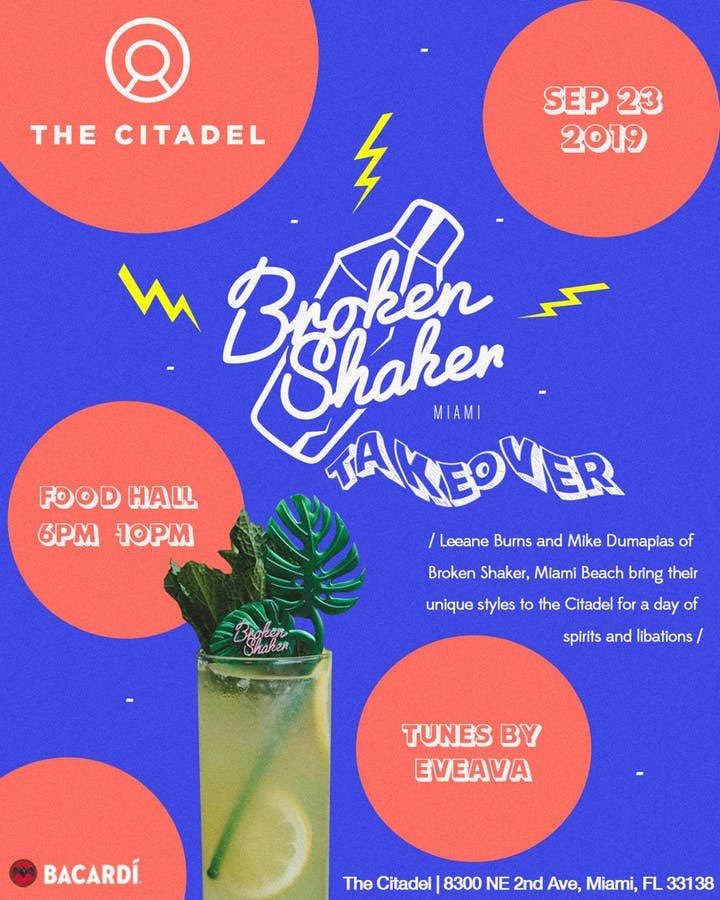 #Miami #Tonight #Sept23 #TheCitadel #BrokenShaker Takeover powered by @bacardi