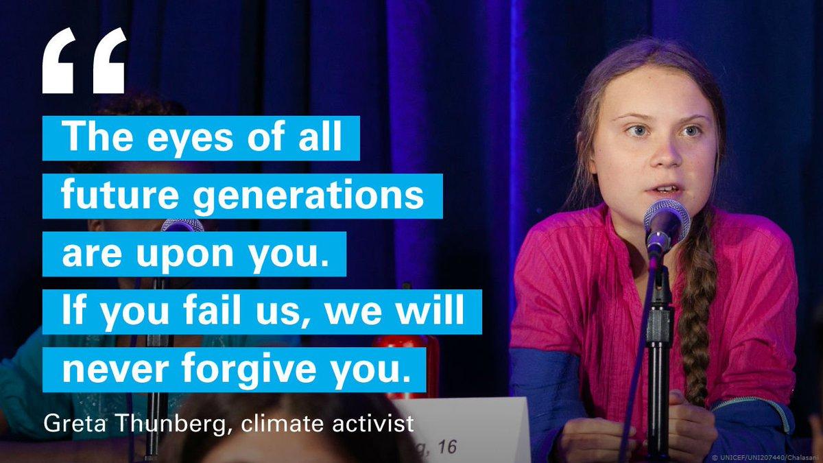 @GretaThunberg @AlexandriaV2005 The world is watching. We need #ClimateAction now. #ChildRights #UNGA