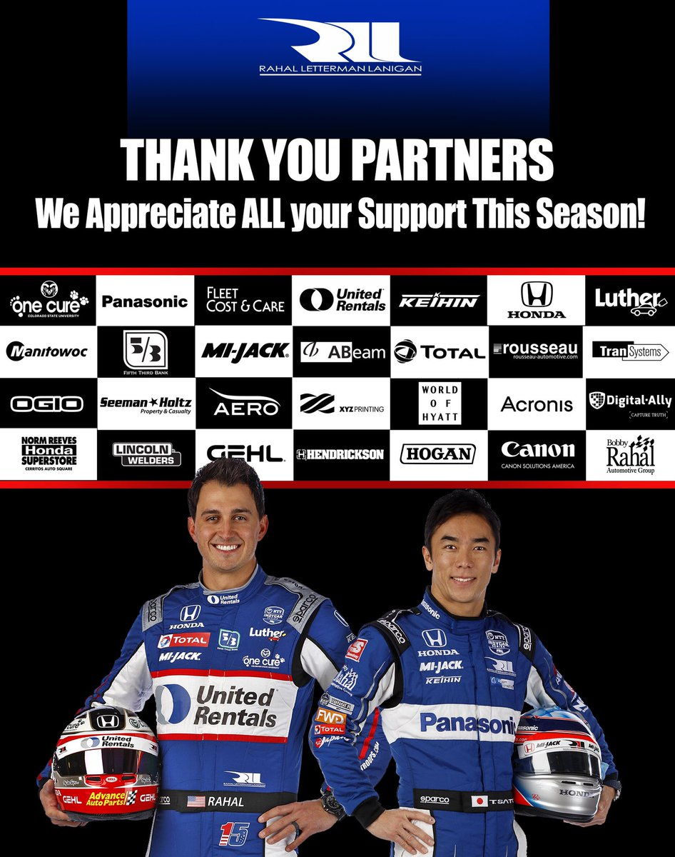 Another @IndyCar season is in the books. Thank you to our partners for the support that makes it possible for us to chase our dreams!
