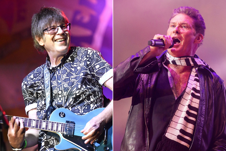 """David Hasselhoff has linked up with Cars guitarist Elliott Easton for a new cover of the Jesus and Mary Chain's """"Head On"""" rol.st/2mH5iFT"""