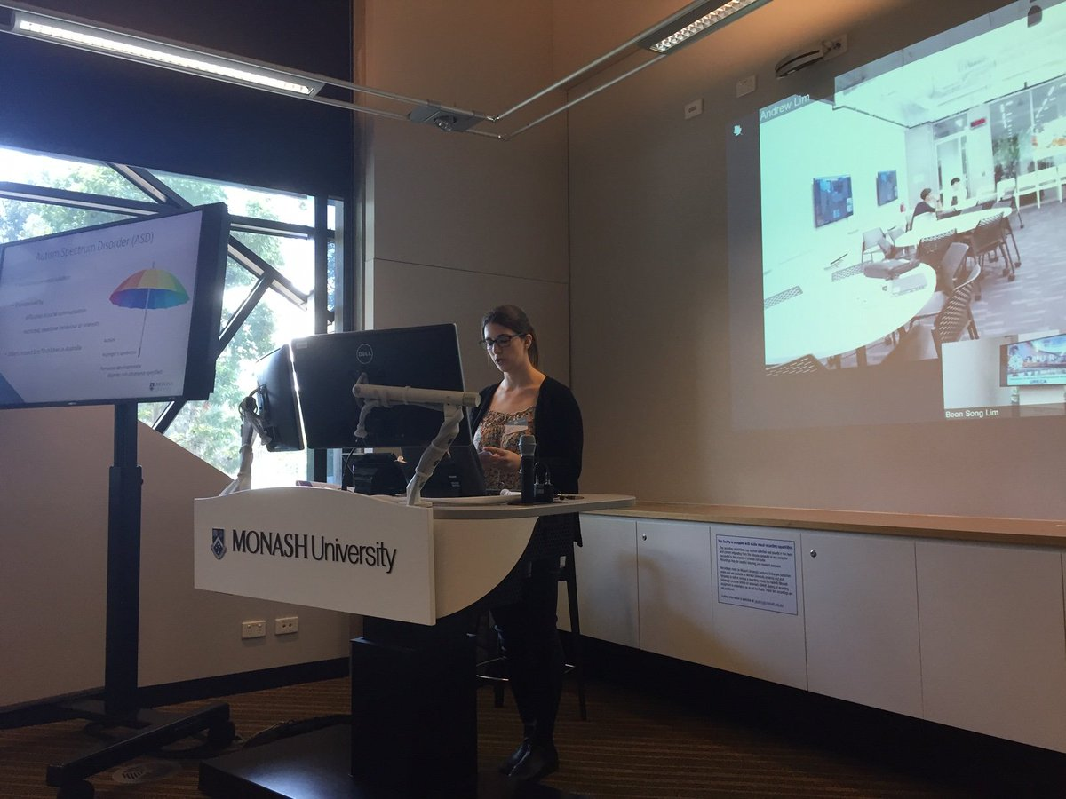 @MonashUni student Adi examines whether interactive digital tools can reduce anxiety in children with Autism Spectrum Disorder #ICUR19 @warwickuni