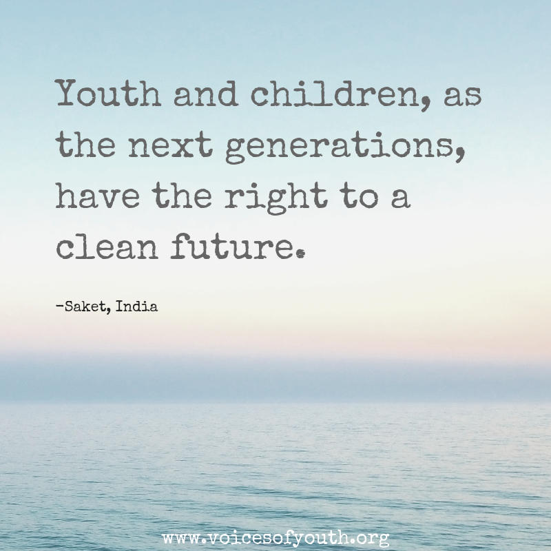 Our future. Our responsibility. #ClimateAction #UNGA @voicesofyouth