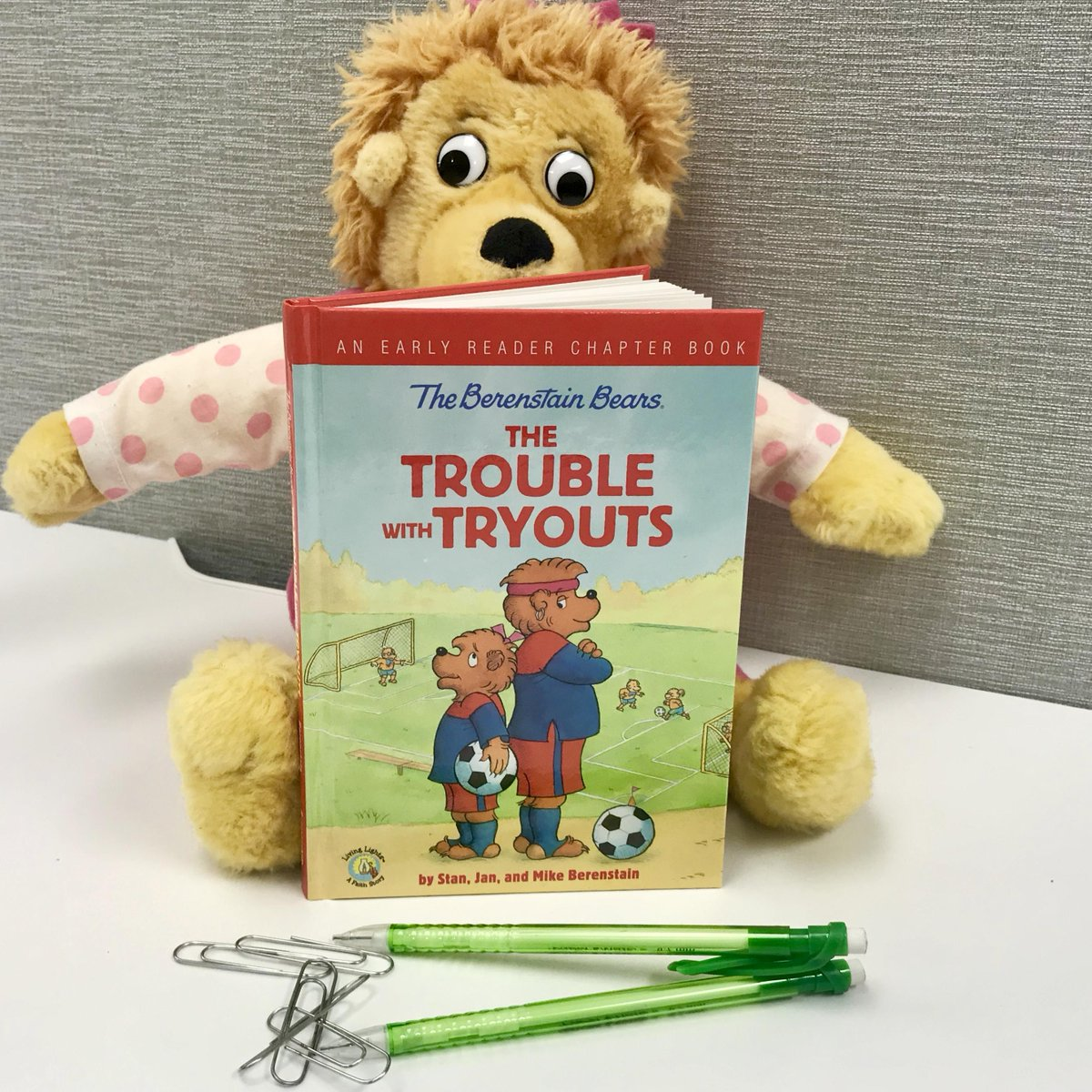 The story: Sister is fast and kicks the ball with great power. Yet, Mama, Papa, and Brother think she has set her sights too high ... or does she?  If your kiddo is ready for their first chapter book, this @berenstainbears book would be a great surprise. https://t.co/3XXhJLrYEW https://t.co/bkUsbS8Clk