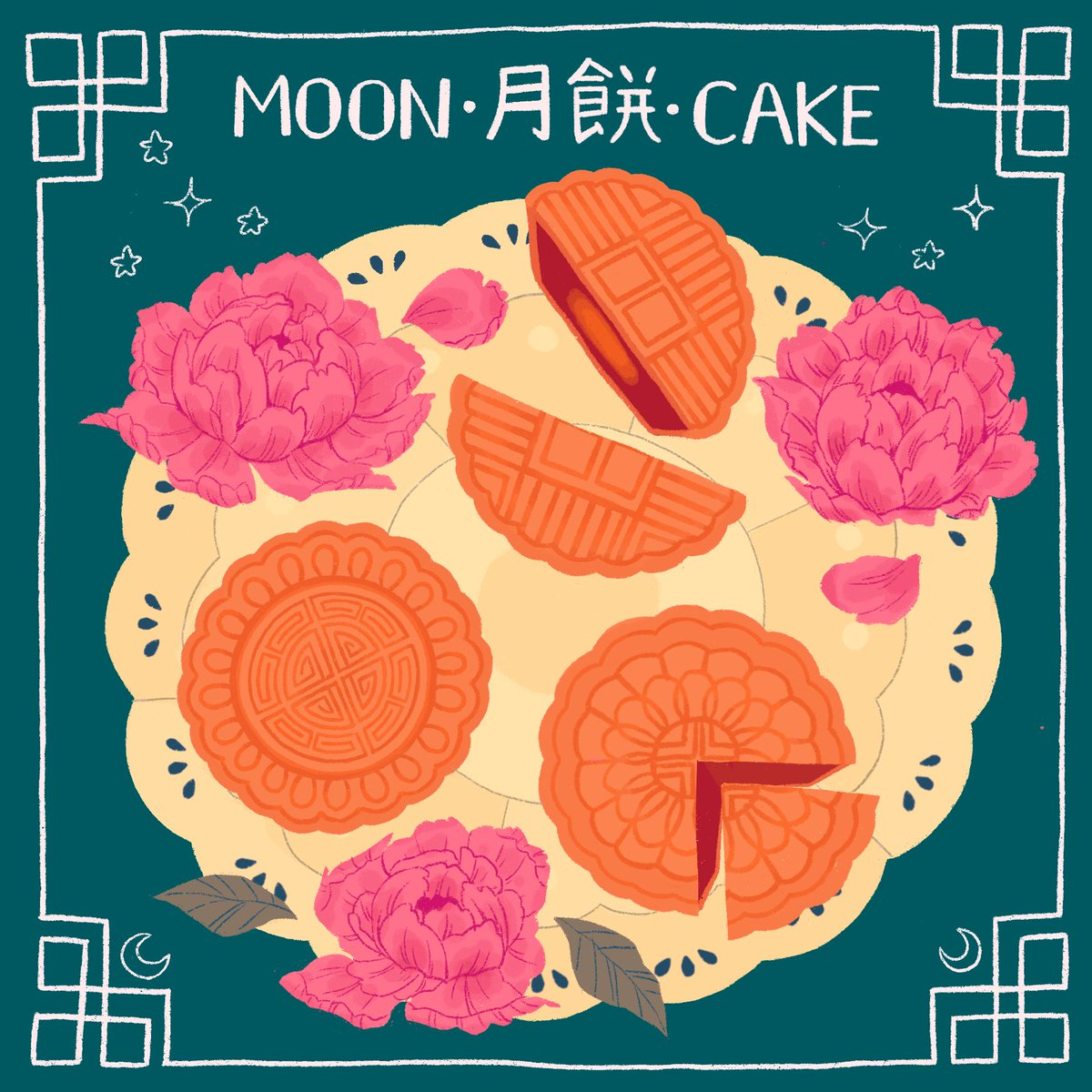 Happy belated mid-autumn festival 🤡 Sorry for my super Americanized Chinese typography skills LMAO