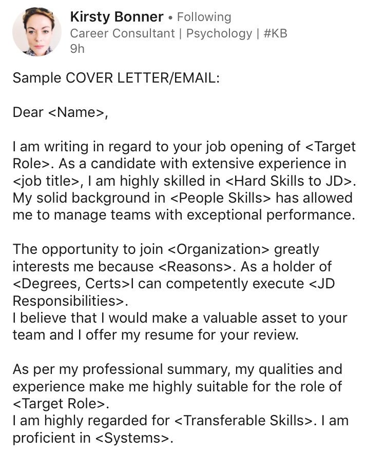 Cover Letter In Email from pbs.twimg.com