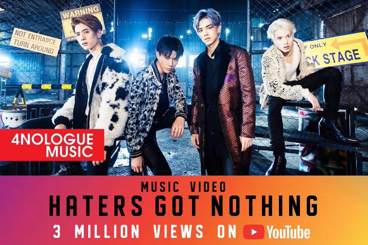 CONGRATULATION! 3 MILLION VIEWS ON YOUTUBE   MUSIC VIDEO  HATERS GOT NOTHING - TRINITY  https:// youtu.be/Cgt74TruI2c       #TRINITY_TNT #HatersGotNothingMV <br>http://pic.twitter.com/B46MfdcN5t