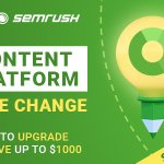 Image for the Tweet beginning: SEMrush's Content Marketing Platform is