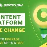 Image for the Tweet beginning: SEMrush's Content Marketing Platform is