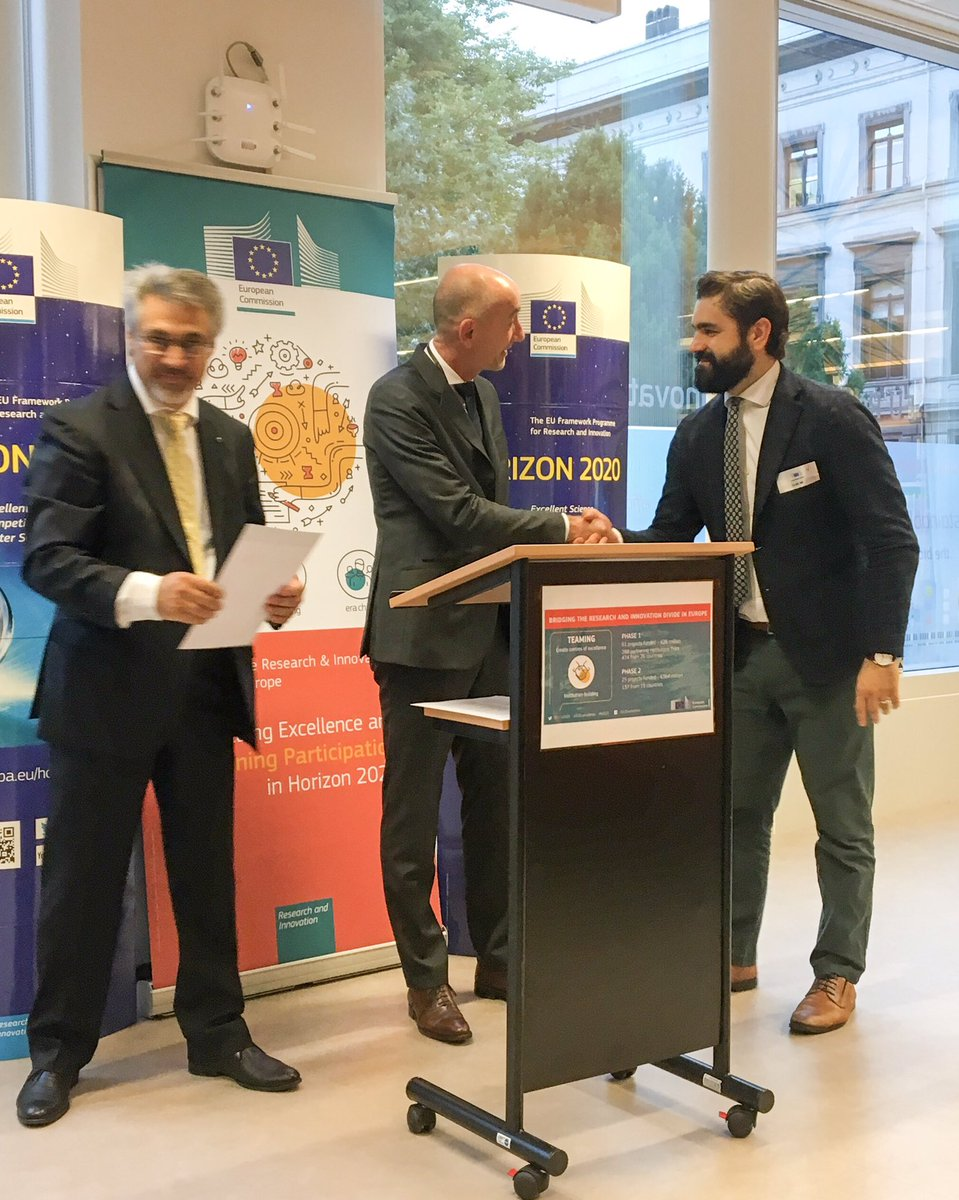 Great way to start a very busy day:awarded by @JEPaquetEU for @BBMRIERIC #CYBIOBANK project,designed & implemented by @UCYOfficial.Congrats Prof Deltas for the great work!Now its time to deliver & increase #Cyprus R&I capacity in #biomedical research #RiDaysEU https://t.co/AdQRYHBB5c